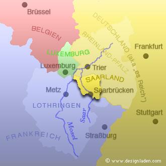 Das Saarland und seine Nachbarn