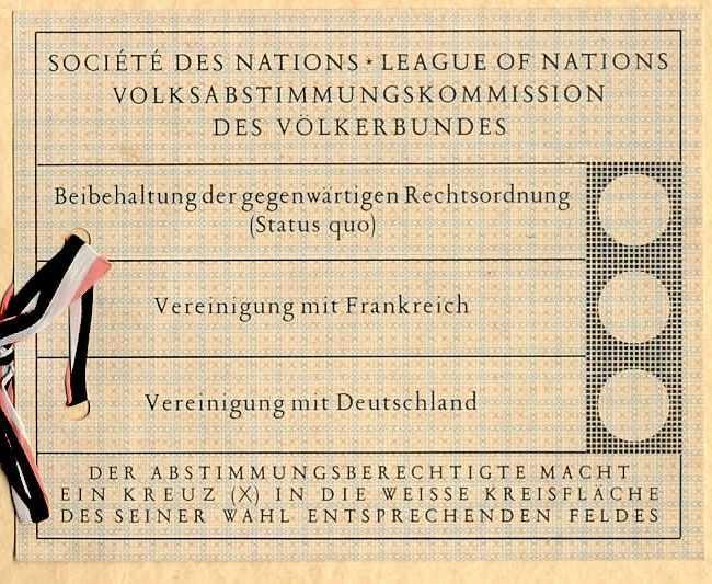 Wahlzettel 1935