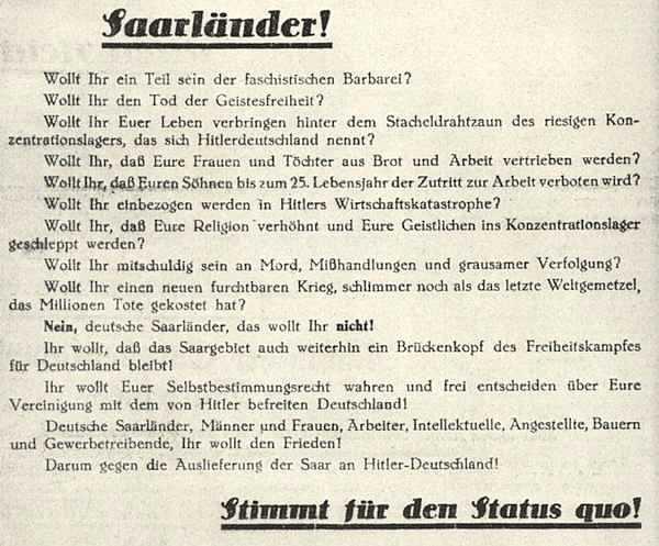50. Heim ins Reich – Nur nicht gleich! | sarrelibre.de